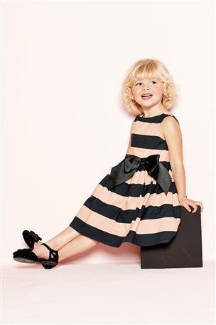 Black Stripe Dress (3mths-6yrs)