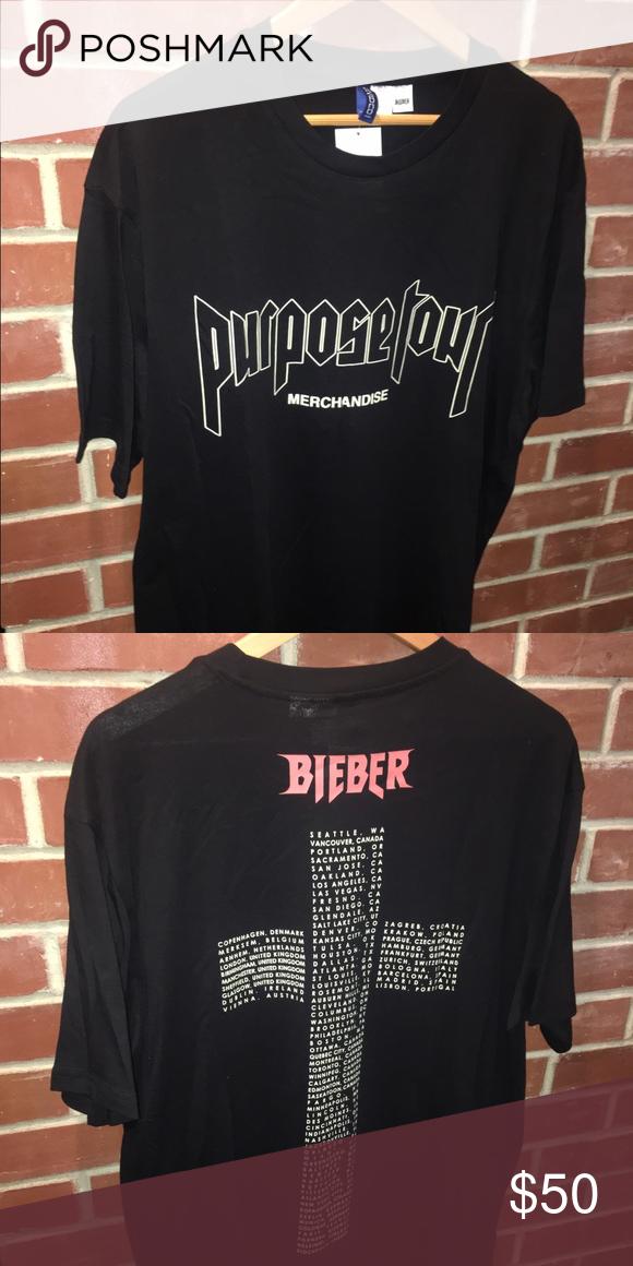 a63ecbb18 Purpose Tour Merch Fear Of God Long extended tee, brand new! Shirts Tees - Short  Sleeve