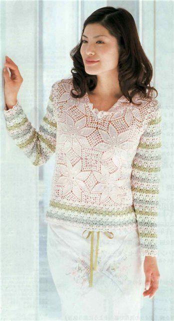 Irish crochet &: CROCHET PULLOVER ... ПУЛОВЕР | Crochet | Pinterest