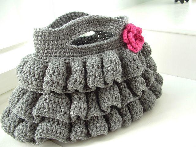 Crochet Dreamz: Bella Bolsa de volantes (modelo del ganchillo libre ...