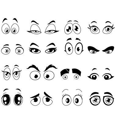 how to draw cute cartoon eyes