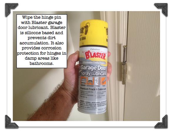 Wipe The Hinge Pin With Blaster Garage Door Lubricant Good Ideas