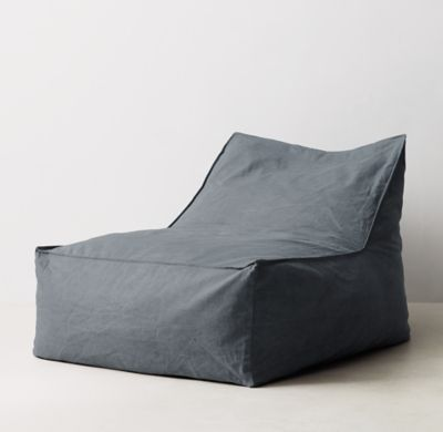 Rh S Distressed Canvas Bean Bag Lounger Version 2 0 Our Relaxed Is A New Take On The Clic Silhouette With Its Raised Back And
