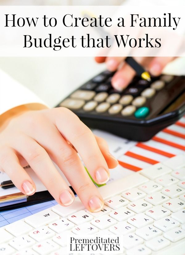 How to Create a Family Budget That Works, including how to start