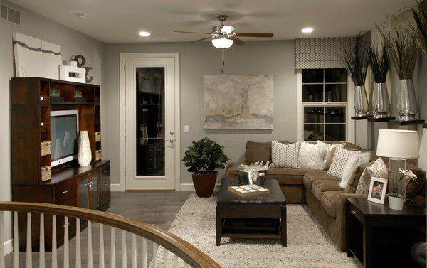 Grey Furniture With Dark Wood Floors