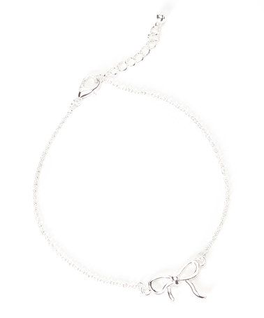 Love this Silver Bow Anklet on #zulily! #zulilyfinds
