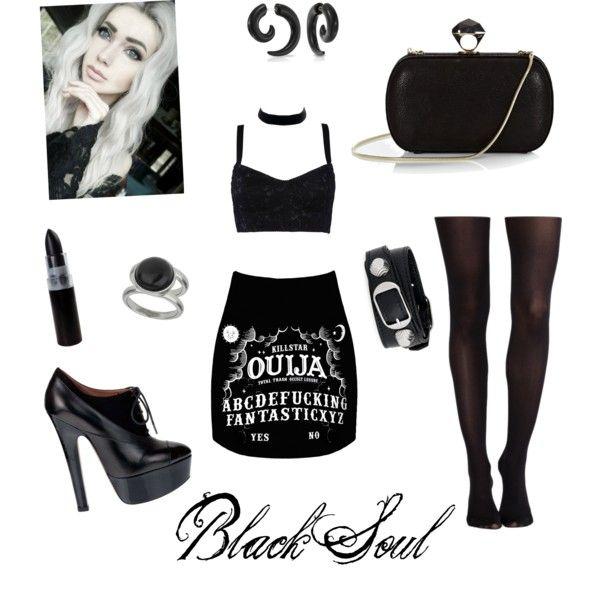 Black soul by brendadg on Polyvore featuring polyvore fashion style Dolce&Gabbana SPANX Alaïa DVF Balenciaga Bling Jewelry Wallis