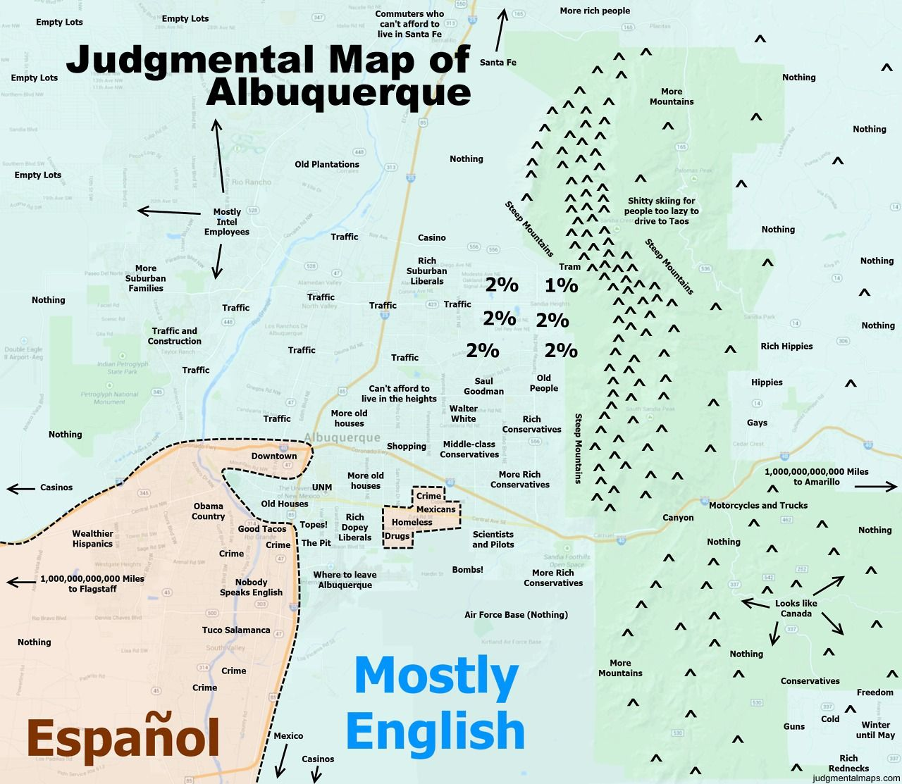Judgmental Map Of Cities We Havent Seen A Map From Yet Want A - Chicago judgemental map