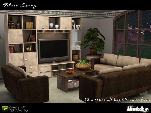 Tilsia Livingroom by Mutske http://www.thesimsresource.com ...