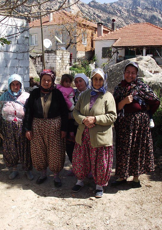 Turkish women from a small village