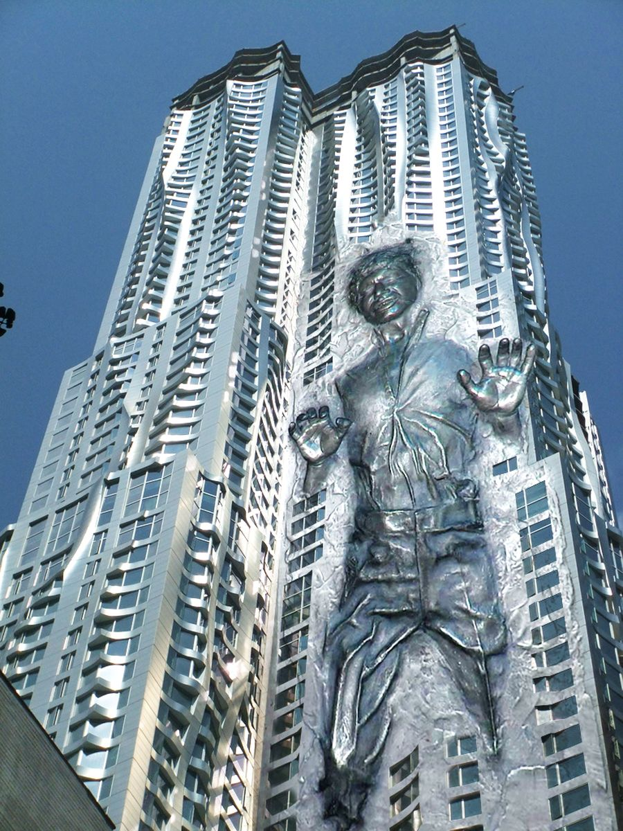 Frank Gehry Carbonite Tower Crazy Star Wars Stuff