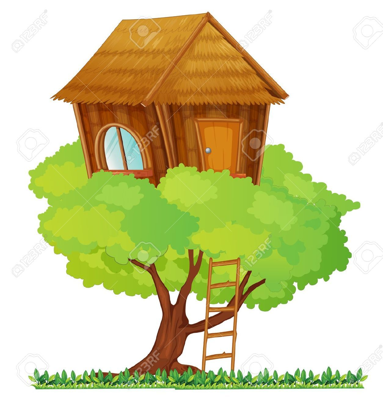 treehouse jungle playhouse pinterest photo illustration rh pinterest com treehouse clipart vector treehouse clipart free