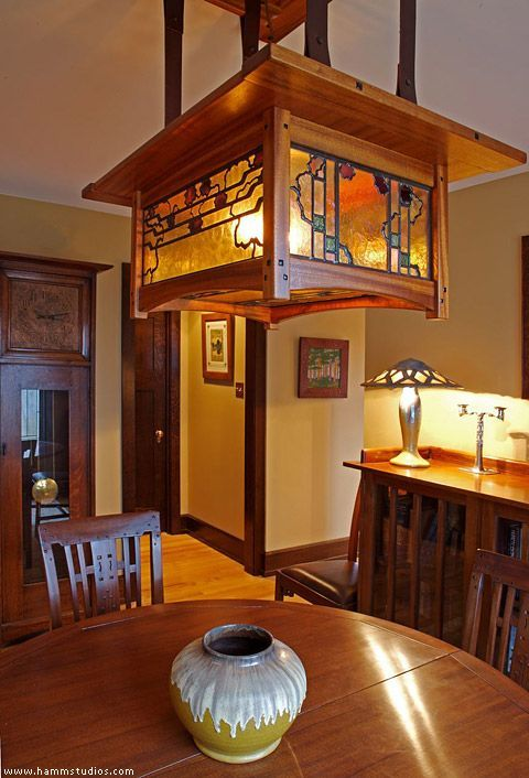 Arts And Crafts Dining Room Lighting  Dining Room 2017  Stained New Craftsman Dining Room Lighting Review