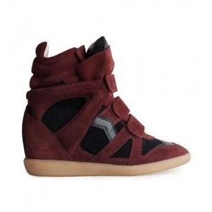 Black Red Isabel Marant Sneakers Beckett Suede Wedge