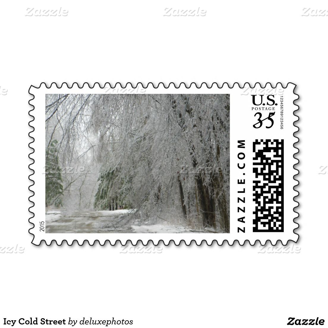 Icy Cold Street Postage Stamp
