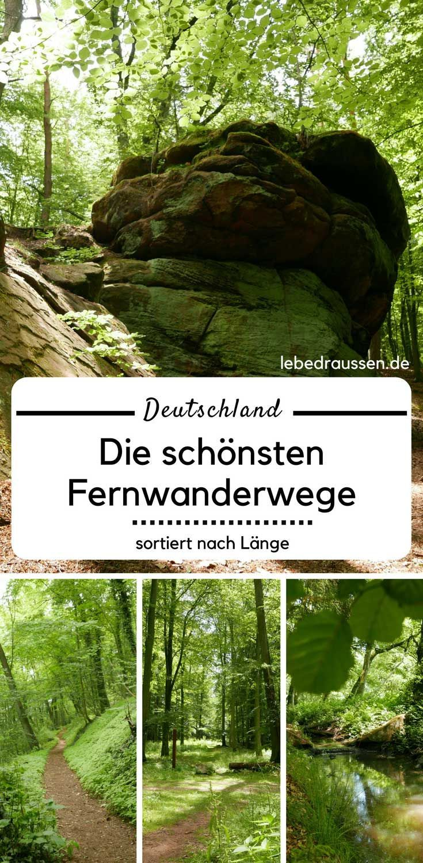 Deutschlands schönste Fernwanderwege - sortiert nach Länge #hikingtrails