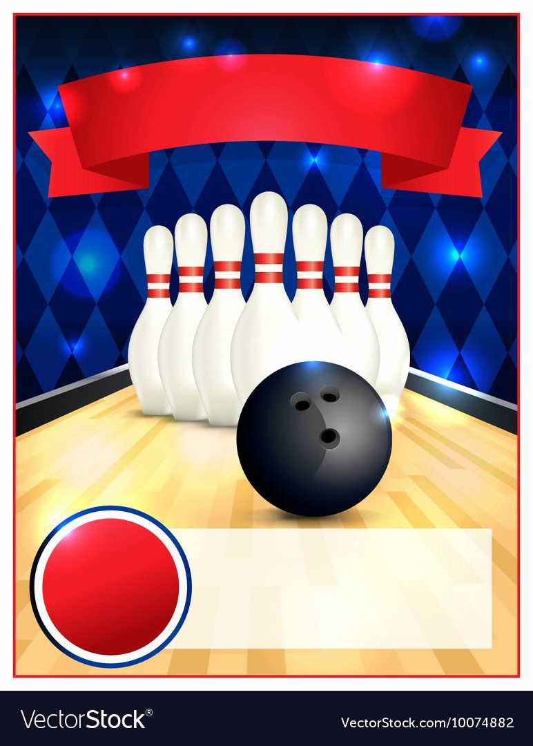 Bowling Flyer Template Free Awesome Bowling Alley Blank