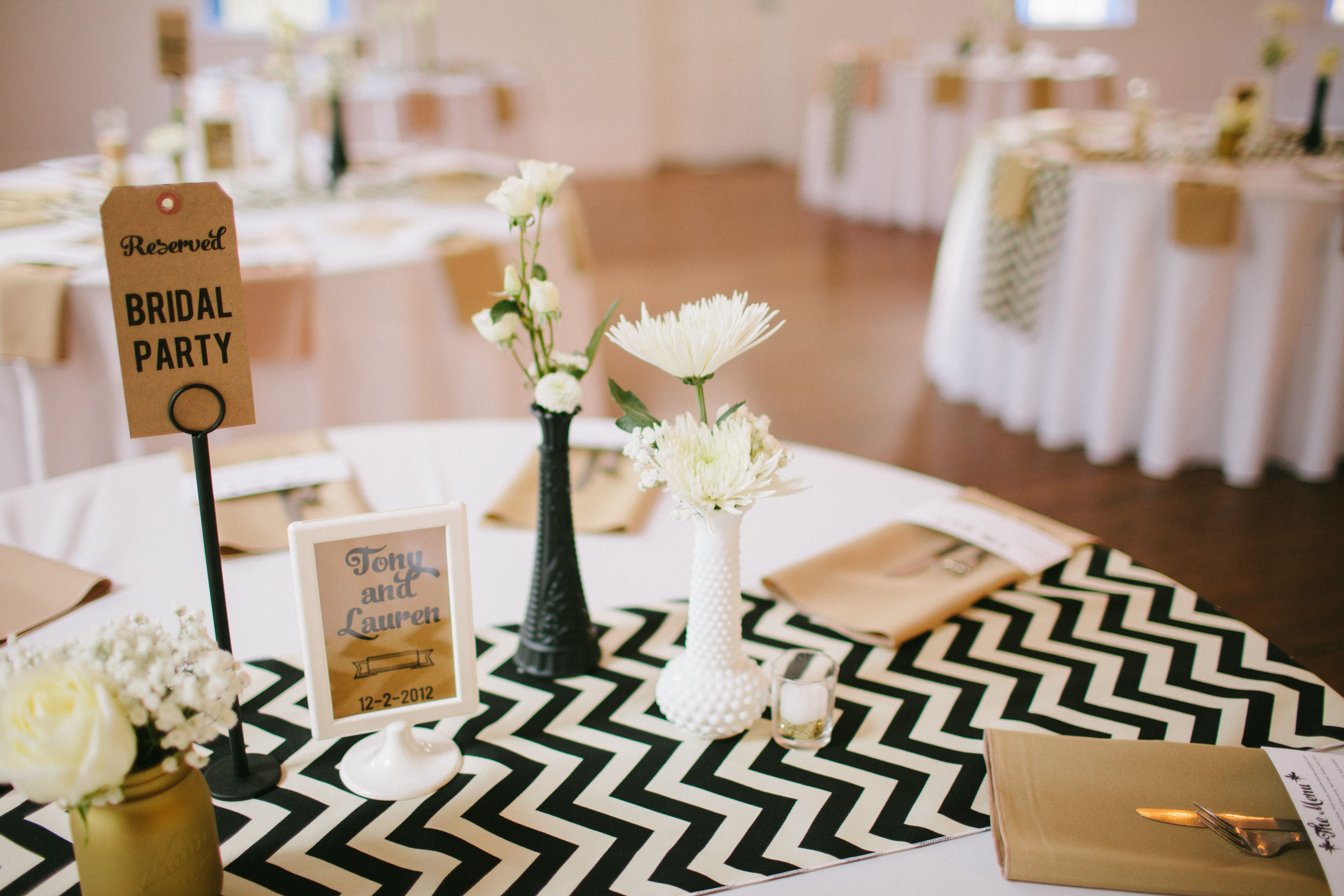 Reception Table Decorations At Mercury Hall Photography By