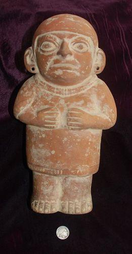 Pre Columbian Moche Terracotta Male Standing Figure Item 1358306 Archaeology Columbian Statue