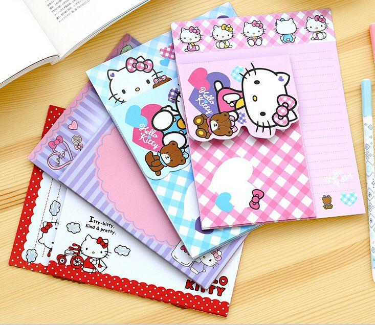 Cute Cartoon Hello Kitty List Papier Pakowy z Koperty List