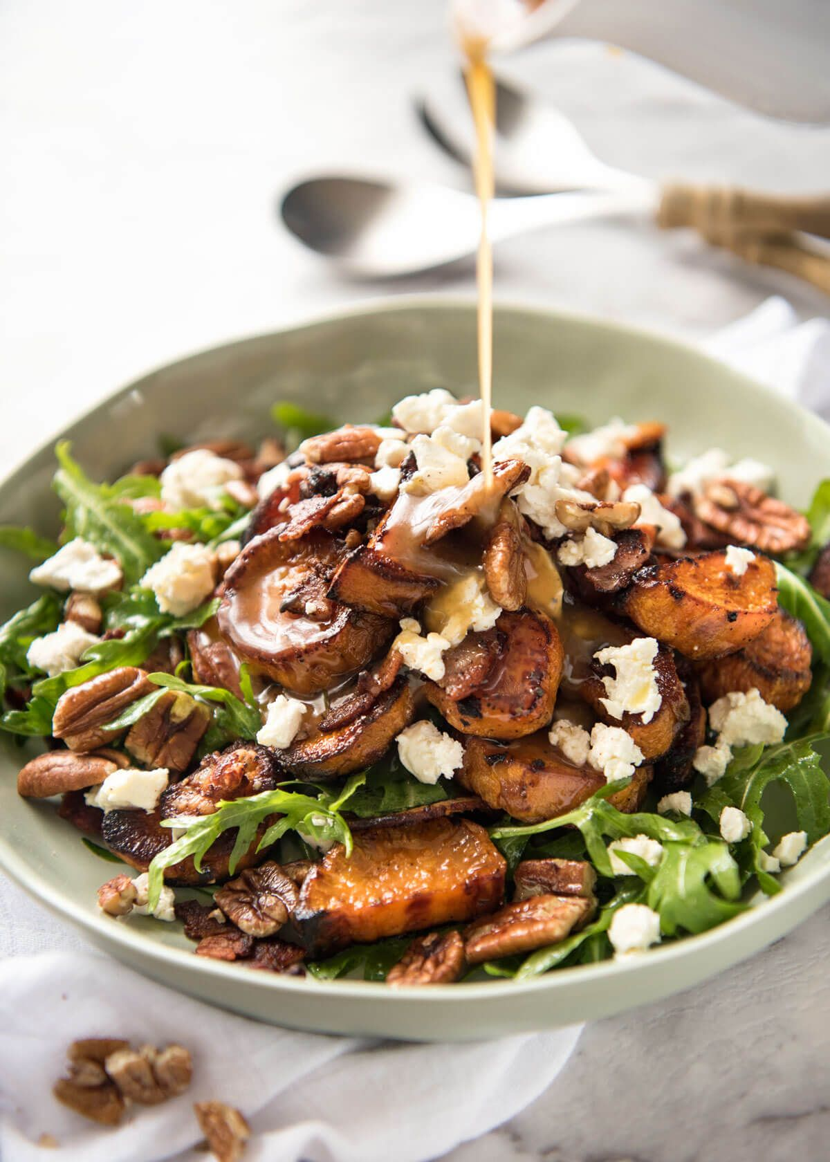Roasted Sweet Potato Salad With Honey Lemon Dressing Recipe Salad With Sweet Potato Recipetin Eats Best Salad Recipes