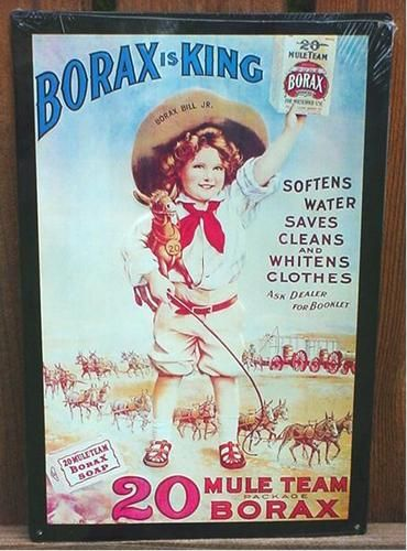 Vintage Ad Sign Borax Mule Team Soap Tin Laundry Room Vintage Laundry Borax Vintage Ads