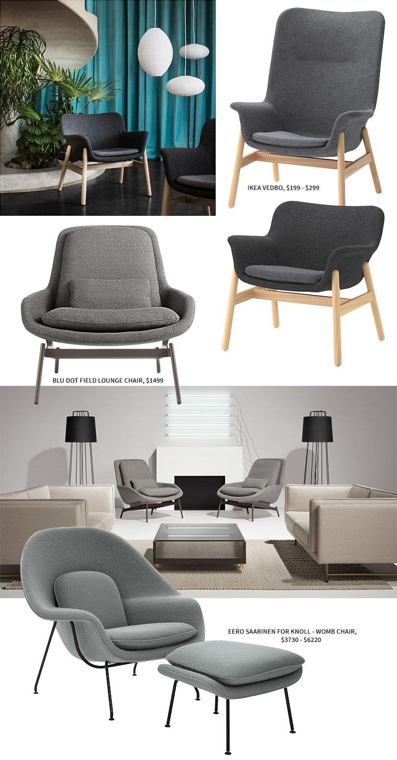 Ikea Relaxstuhl Ikea Vedbo Vs Blu Dot Field Lounge Chair Vs Eero Saarinen Womb