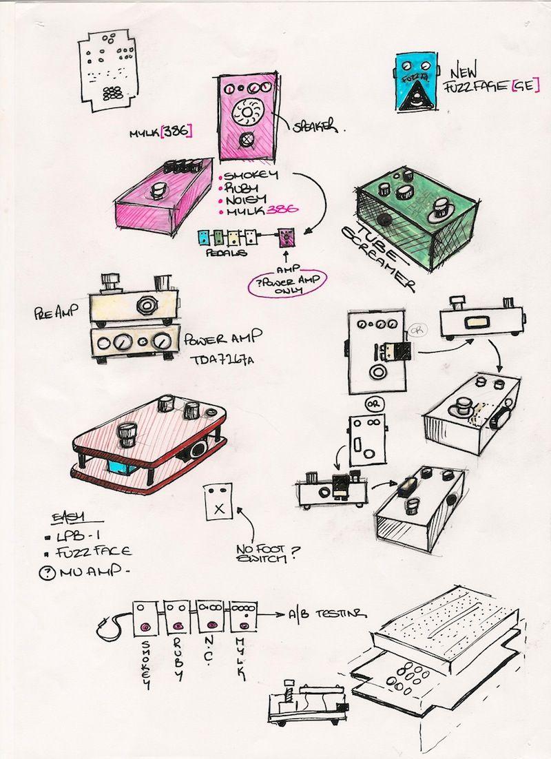 Mylk Biy Guitar Pedal Pcbs Pinterest Jimi Hendrix Fuzz Face Circuit Diagram