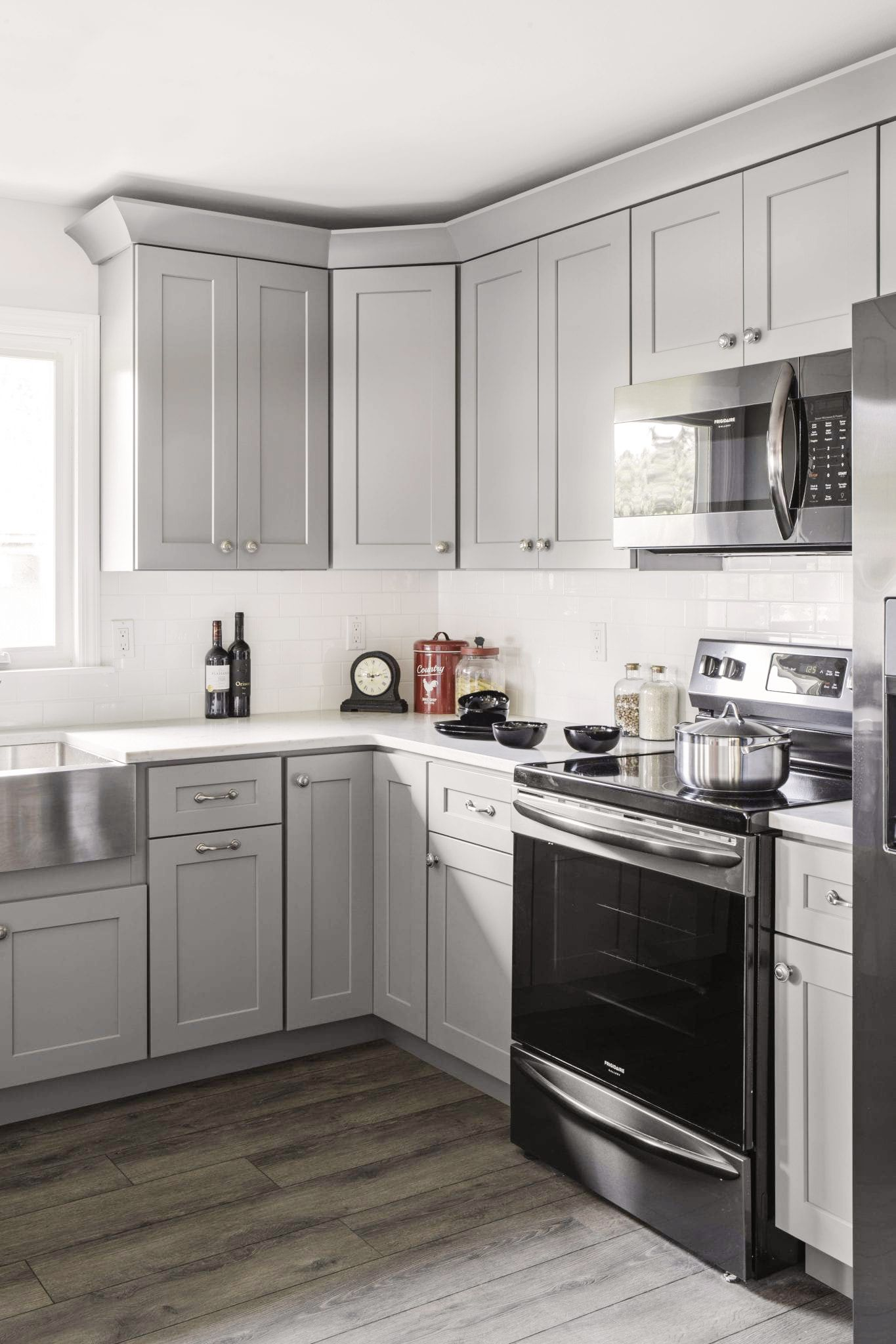 Home Cabinet Westbury S5 Style Castle Grey All Wood Maple Kitchen Cabinets In 2020 Kitchen Remodel Small Kitchen Decor Inspiration Maple Kitchen Cabinets