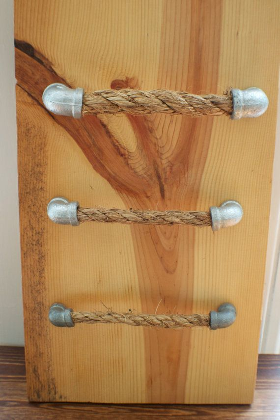 Galvanized Rope Pulls - Right Angle ends, Drawer Pulls, Cabinet ...