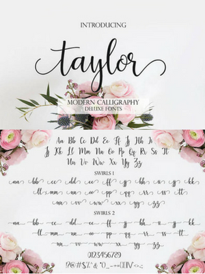 Font Download Digital Calligraphy Script Handwritten Wedding
