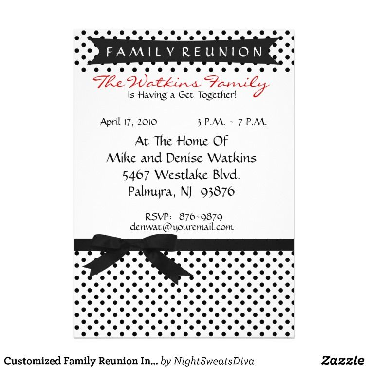 Family Reunion Invitation Letter Template | Family Reunion