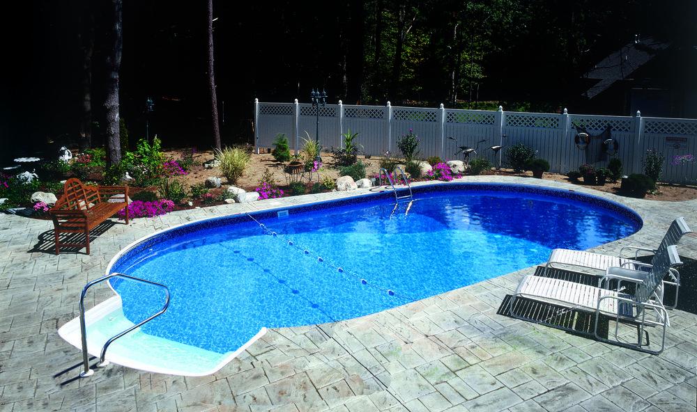 16 X 32 Radiant Oval Inground Pool Inground Pool Landscaping
