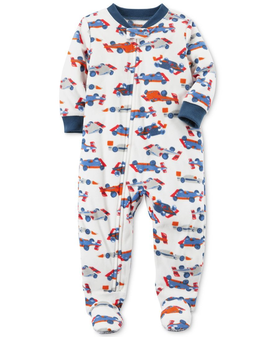 5735a0cd4 Carter s 1-Pc. Car-Print Footed Pajamas