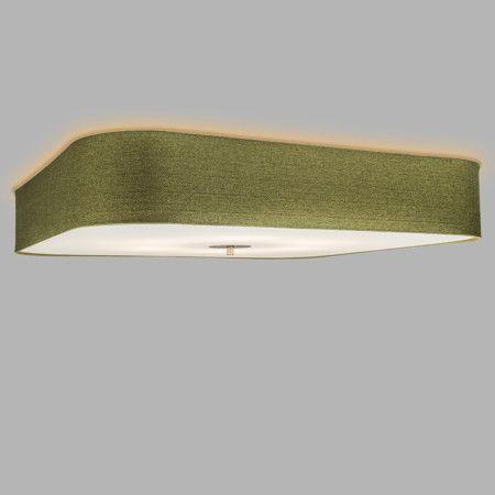 Deckenleuchte Drum deluxe 70 quadratisch Jute grün #Deckenleuchte - wohnzimmer einrichten grun