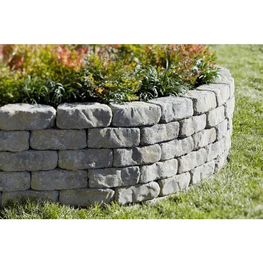 Flagstone Allegheny Retaining Wall Block Common 4 In X 11 In Actual 4 In X 11 2 In Lowes Com In 2020 Garden Retaining Wall Landscaping Retaining Walls Concrete Retaining Walls