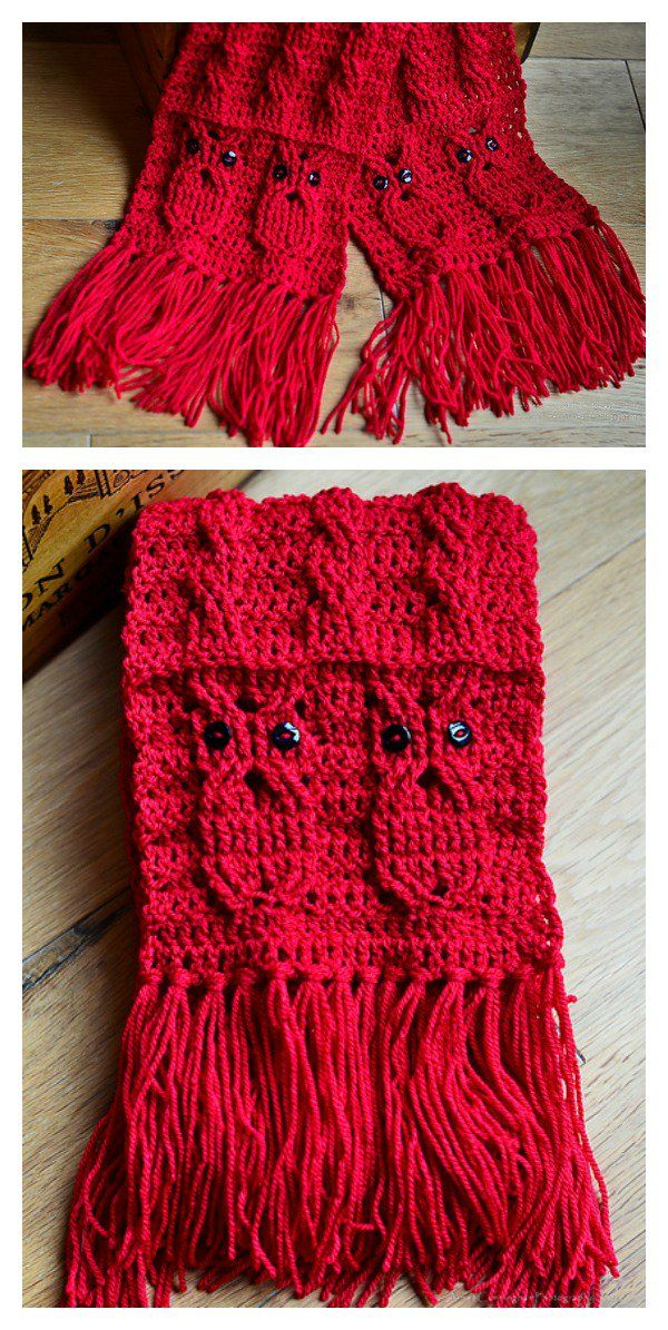 Owl Cabled Scarf Free Crochet Pattern Free Crochet Cable And Owl