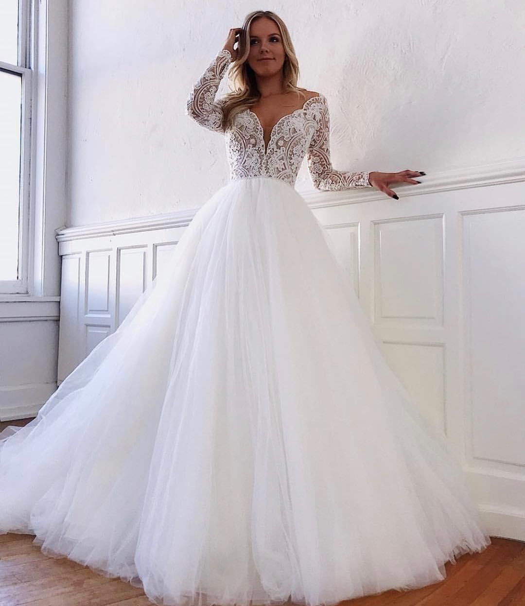 Pin On Sleeve Wedding Dresses