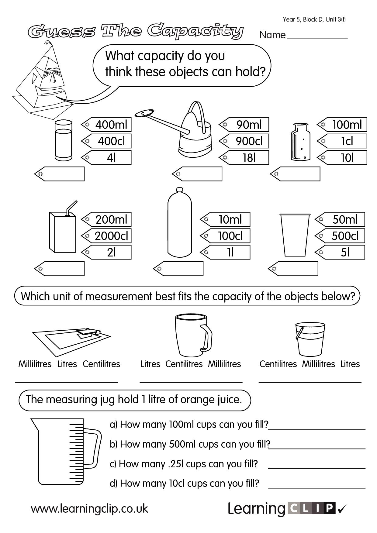Predownload: Measuring Jug Worksheet Year 2 Www Yuyellowpages Net Math Worksheets Printable Activities Worksheets [ 1754 x 1240 Pixel ]