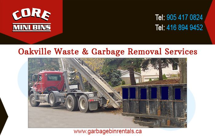 core mini bins is proud to provide fully fledged waste garbage removal and bin rental services in oakville our quic oakville junk removal service garbage bin pinterest