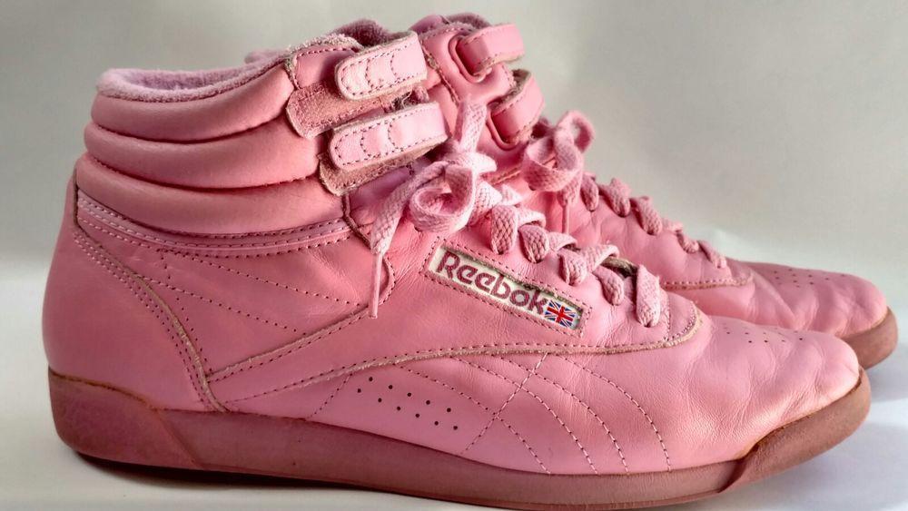 Reebok Freestyle Hi Leather Women/'s Trainers Hi Top Retro Classic Pink
