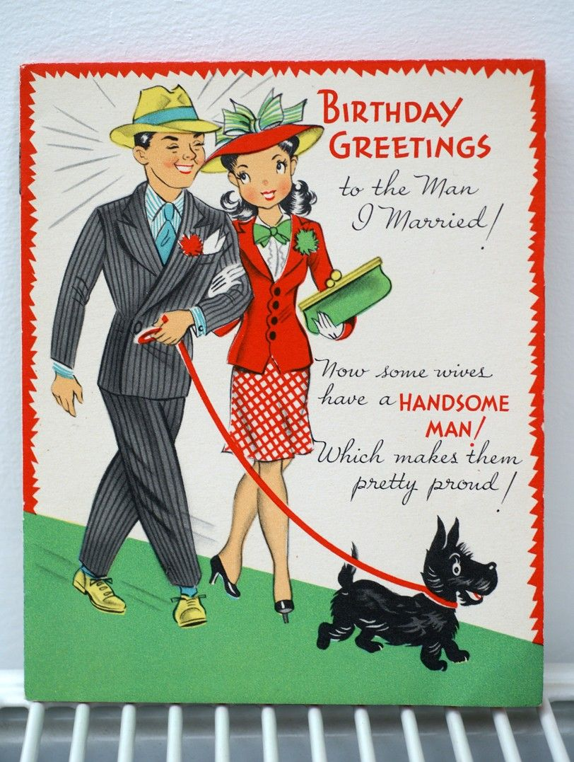 MRS SMIT FUN RETRO VINTAGE STYLE BIRTHDAY CARD CAN BE PERSONALISED WITH NAME