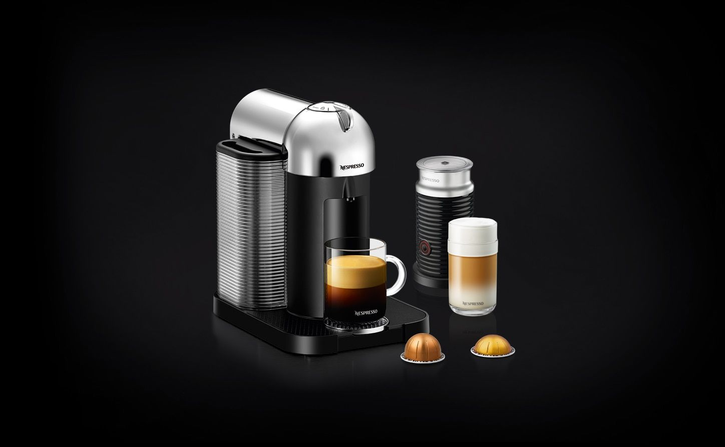 With the Vertuo Chrome Bundle, enjoy a nice coffee or make