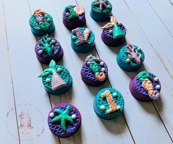 12 Mermaid Under the Sea Chocolate Covered Oreo Birthday First Birthday Baby Shower Party Favor