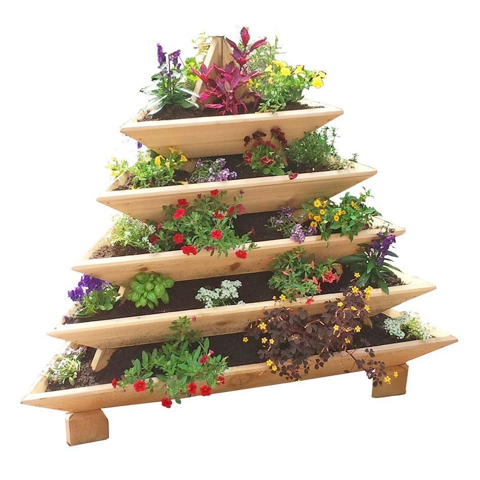 5 level plant pyramid for Vegetable garden planters