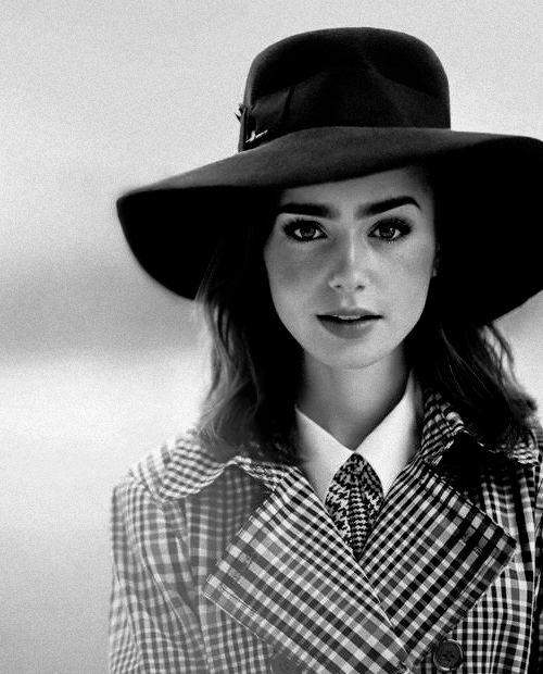 lily collins. I personally just like the picture.