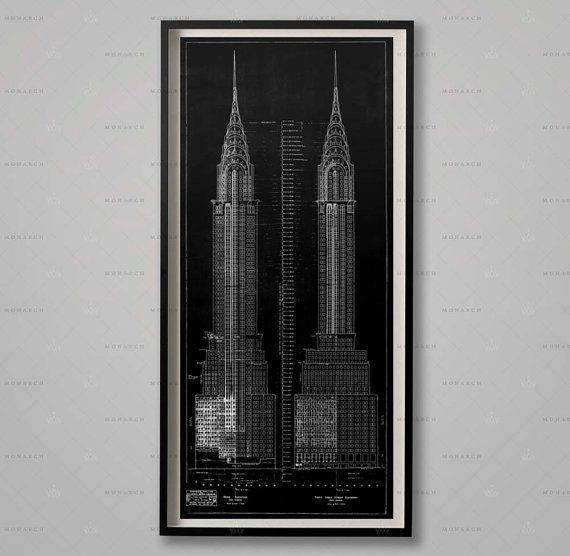 Chrysler building blueprints architecture plans elevations nyc chrysler building blueprints architecture plans elevations nyc architecture chrysler elevations wall malvernweather Gallery