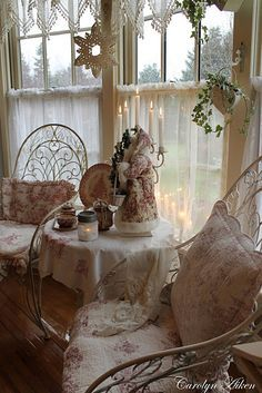 Very romantic tea nook near the windows... Aiken House & Gardens