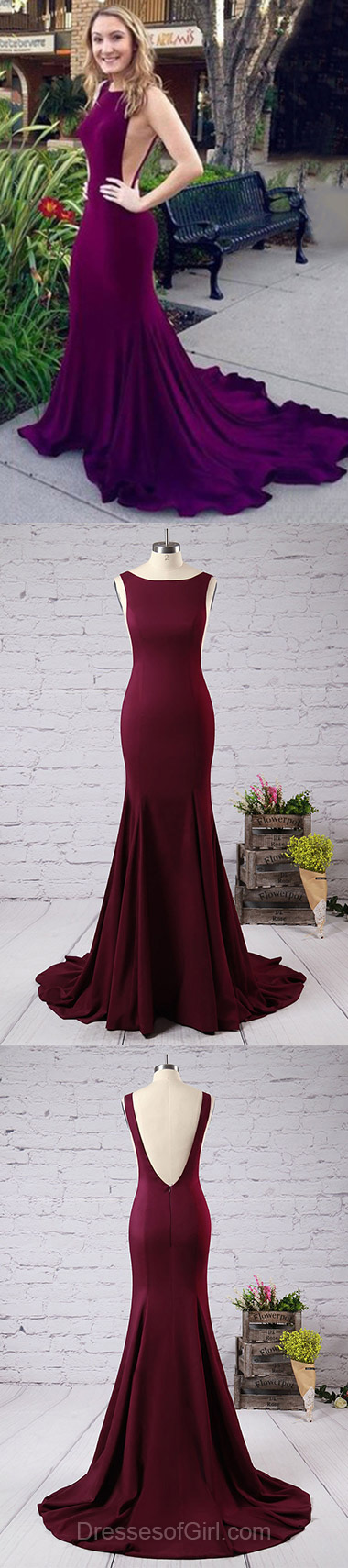 f5d640fee7 Unique Purple Prom Dress with Court Train