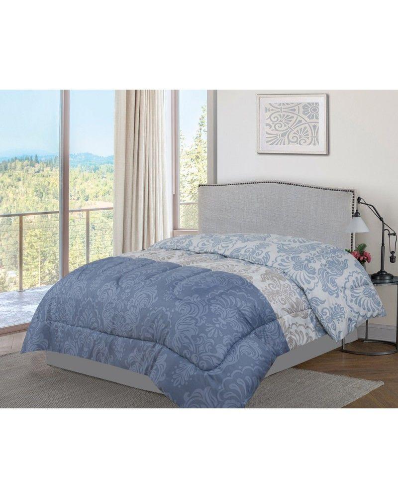 Edredon Barato Invierno Narbona Reversible Azul 150 Cm In 2020 Full Size Bed Blanket Cover Bed